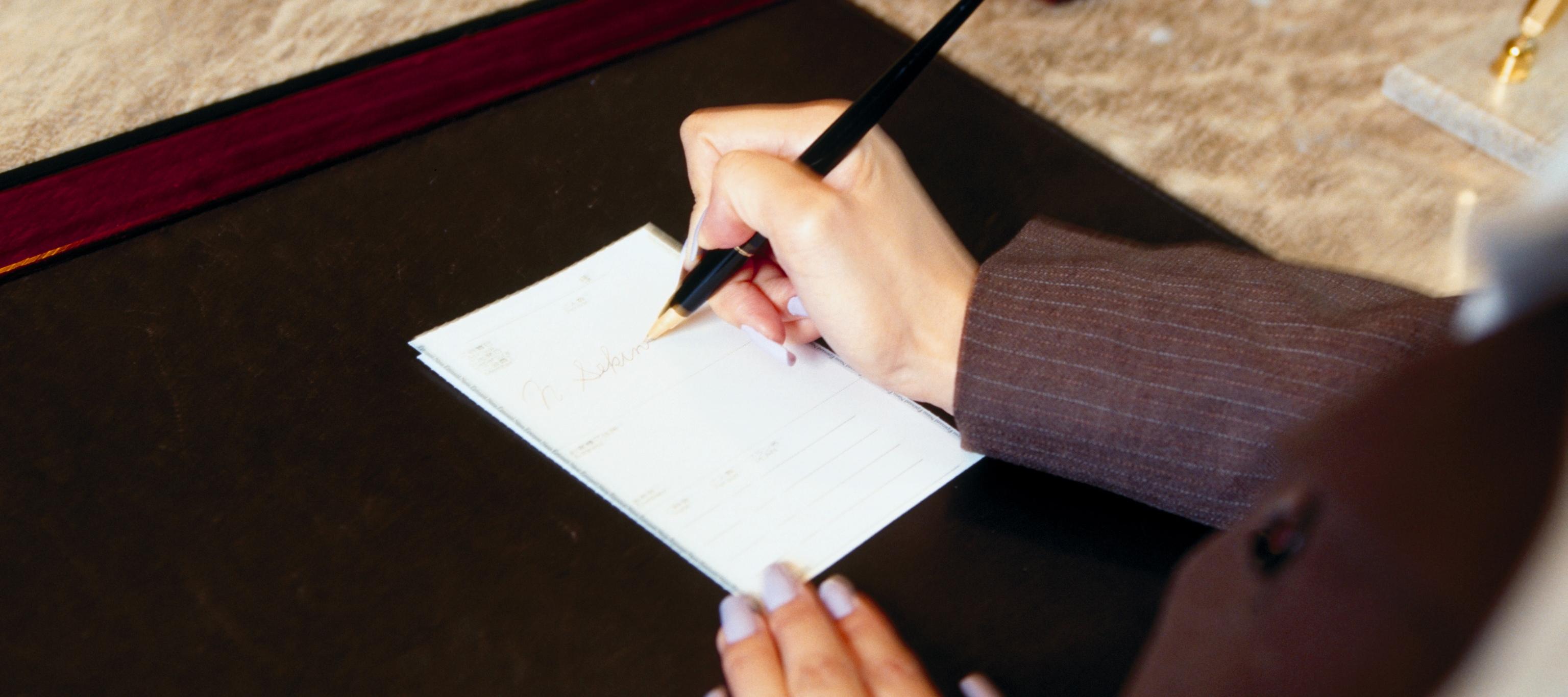 手書きの文章を書く